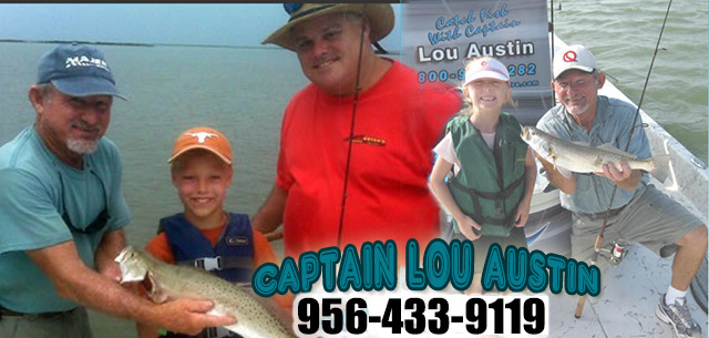 Austin Fishing Charters - Captain Lou Austin Laguna Madre Bay South Padre Island and Port Isabel fishing trips
