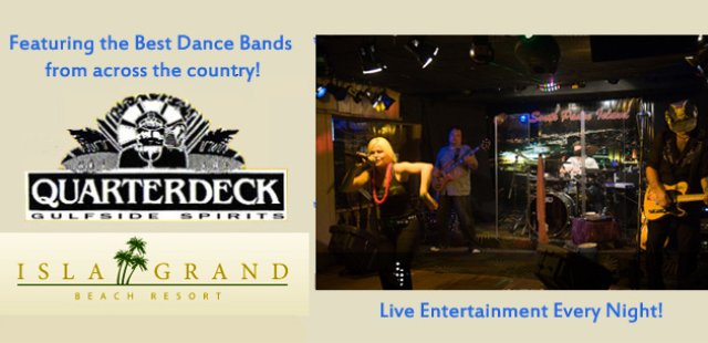 The Quarterdeck at the Isla Grand South Padre Island dance club and live music