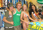 Reef girls at On The Beach Surf Shop