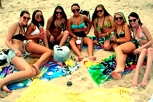Spring Breakers on the Beach