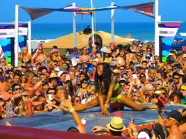 South Padre spring break dance contest